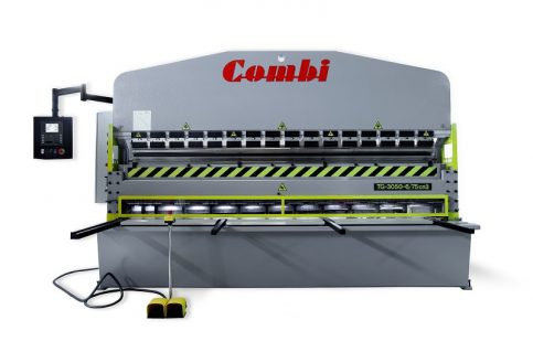 le combiné cisaille presse plieuse COMBI permet des couper et plier les tôles sur une seule machine et remplace une cisaille et presse plieuse conventionnelles