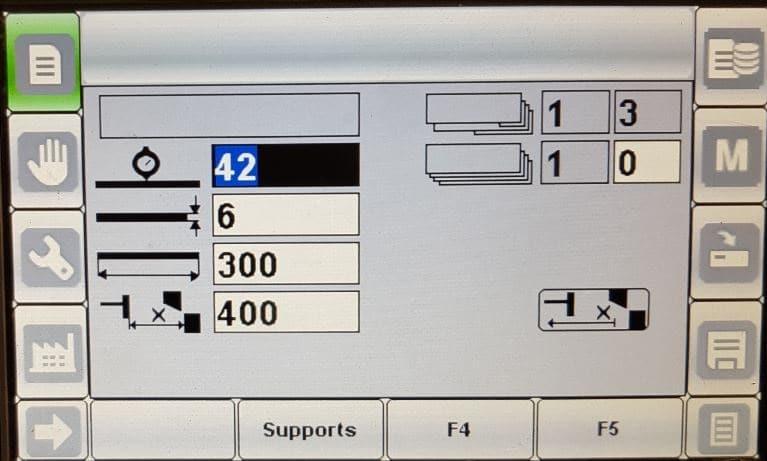 Ecran de control cisaille hydraulique KORPLEG JC COLOLMBO