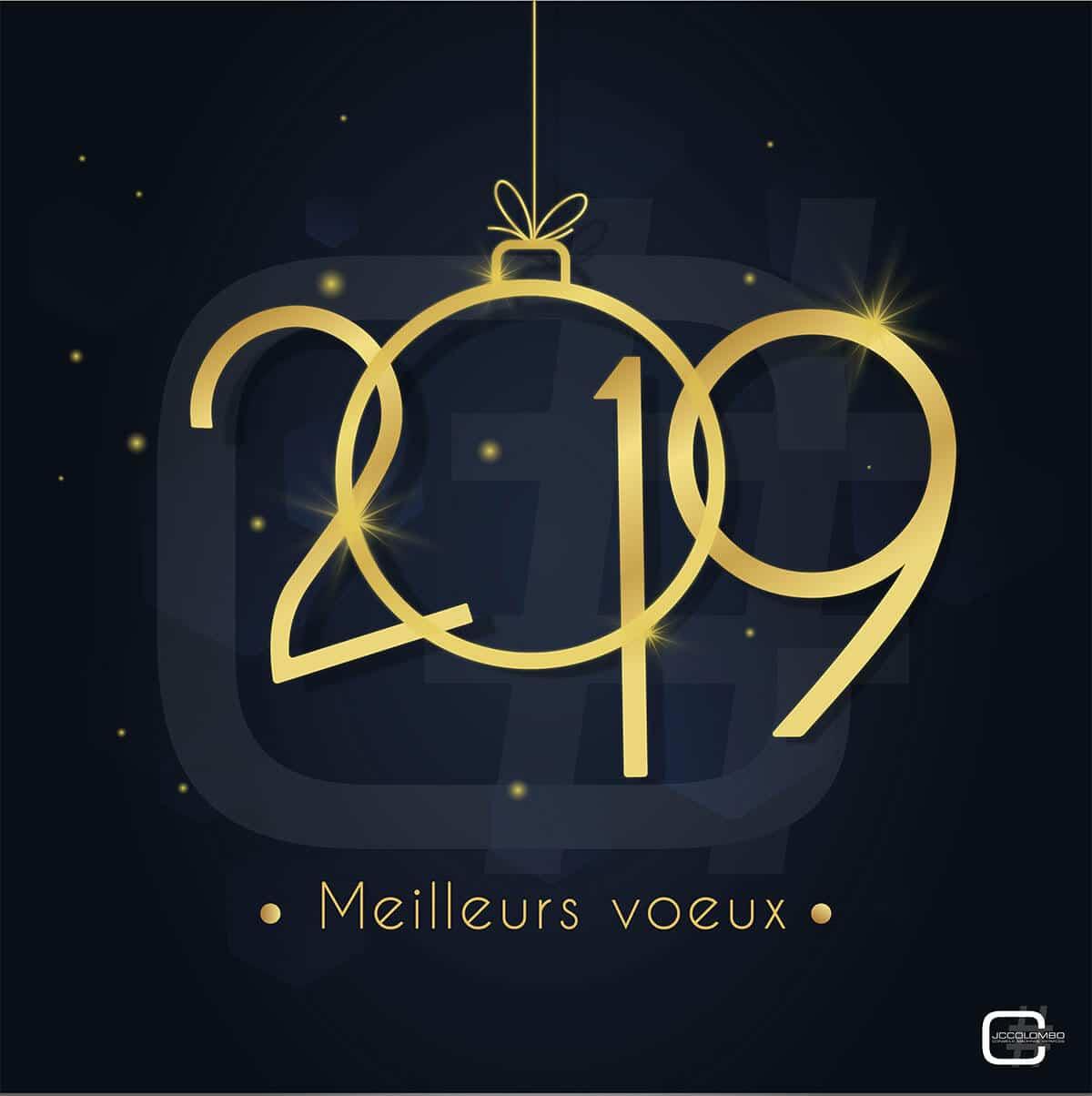 JC Colombo vous présente ses meilleurs voeux pour l'année 2019.